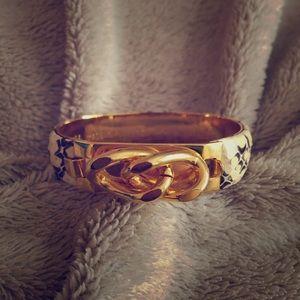 Vita Snakeskin Gold Bracelet